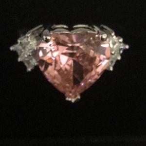Park Lane Pink Heart Ring